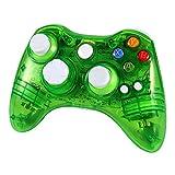 Wetoph Xbox 360 Wireless Controller, GD02 Nachleuchten PC Controller Transparente Gamepad mit 8 LED-Leuchten Unterstützung Xbox 360 und PC (Windows XP / 7/8/10) grün