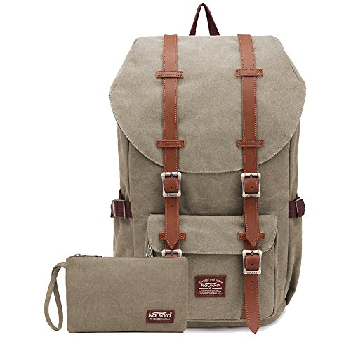 KAUKKO Rucksack Damen Herren Studenten Backpack 17 Zoll Rucksack für 15