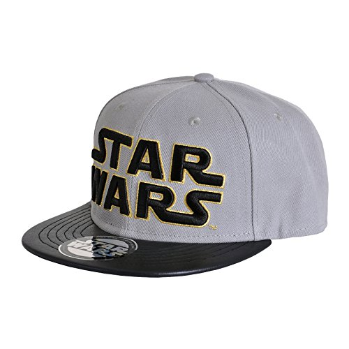 Star Wars Herren Snapback Cap - Classic Logo Baseball Cap Grau Gold (Womens Gold Baseball)