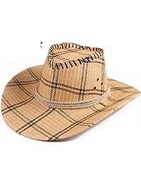 El Sol Sombrero De,Verano No Viewer Enrejado Aire Libre Vaquero Sombrero De Paja Gorra