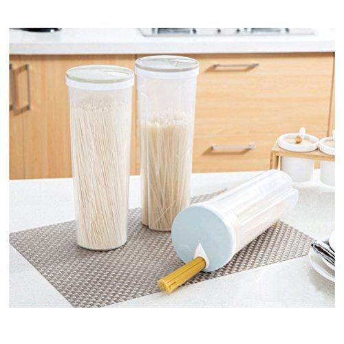Bestomz noodle spaghetti contenitore pattumiera in plastica casa cucina cereal storage box