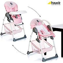 Hauck 4007923665268 Sit'n Relax Birdie - Babyliege und Hochstuhl ab Geburt mit Liegefunktion, mitwachsend, höhenverstellbar, rosa