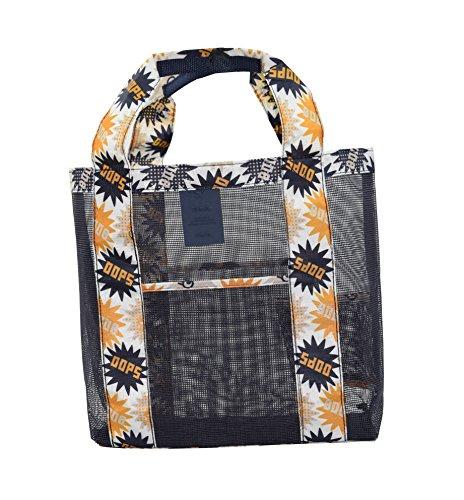 HESG Borsa da spiaggia di sabbia lontano spalla della spiaggia Deposito Mesh Bag Donne Shopping Viaggio Tote Bag Dark Blue