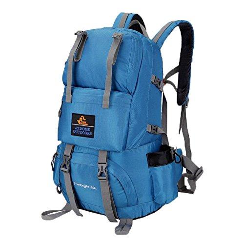 ubagoo Abfalltonne Wasserdicht Wandern Camping Rucksack Outdoor Groß Trekking Bergsteigen Klettern Rucksack Reisen Urlaub Gepäck Tasche Blau