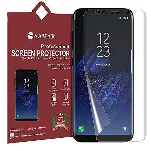 SAMAR – Samsung Galaxy S8 Protector de Pantalla (3 en Paquete) de Cristal Transparente de Calidad Premium para Samsung Galaxy S8 {TAMAÑO COMPLETO} Para una Alta Definición HD