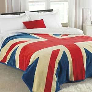 doux et chaud motif union jack vintage couverture couvre lit luxueux de 200 cm x 200 cm amazon. Black Bedroom Furniture Sets. Home Design Ideas