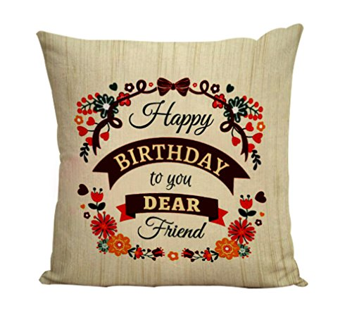 32 OFF On Style Crome Dear Friend Happy Birthday To You Cushion Cover 12 X With Filler Ceramic Mug 350Ml Greeting Card And Key Chain For Gift