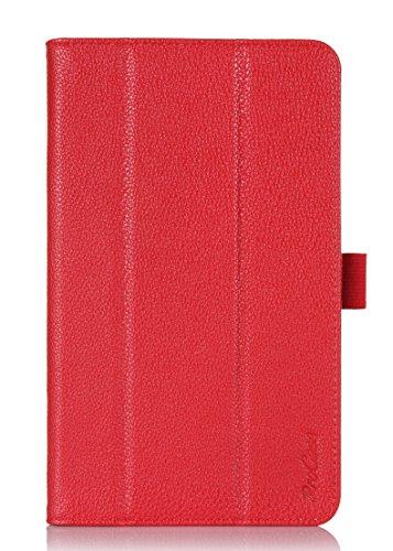 Preisvergleich Produktbild ProCase Samsung Galaxy Tab S 8.4Fall–Tri-Fold Buch Fall Exklusiv für 2014Galaxy Tab S Tablet (21,3cm, SM-T700) mit Handschlaufe, Auto Sleep/Wake (rot)