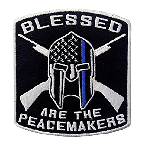 Blessed Are The Peacemakers Law Enforcement Embroidered Iron On Sew On Patch