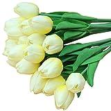 Künstliche Blumen Pu Mini Tulip Blume Künstliche Seide Bouquet Blumen für Home Party Hochzeit Dekoration 21 stücke Farbe M