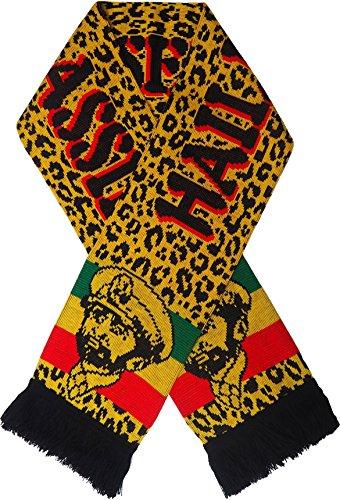 Rasta Löwe von Juda Strick weicher Schal Rastafari Reggae Bob Marley, Haile Selassie, auf beiden Seite (Marley Bob Tragen Rasta)