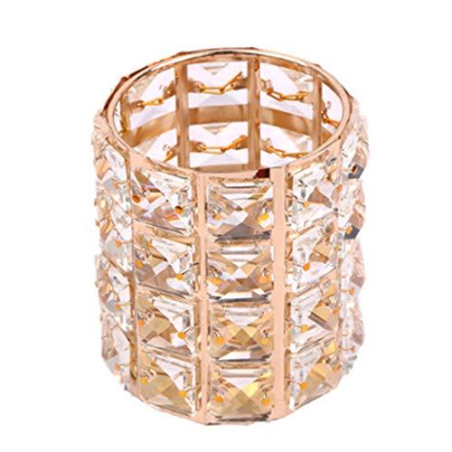 Xmansky Nail Art Kristall Stifthalter europäischen Licht Luxus Diamant Kristall Stifthalter Make-up Pinsel Aufbewahrungsbox Metall Lagerung Finishing-Tool,Erschaffe ein perfekteres Du -