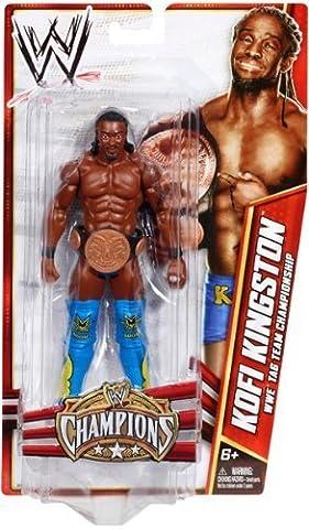 Mattel WWE Wrestling Exclusive Champions Action Figure Kofi Kingston [Tag Team Championship Belt] by WWE