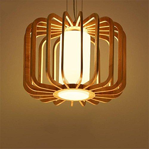 Kronleuchter FUFU Pendelleuchten Nordic Holz kreative minimalistische Restaurant Lichter Wohnzimmer leuchtet Restaurant modernen chinesischen Holz japanischen Stil Lampen -