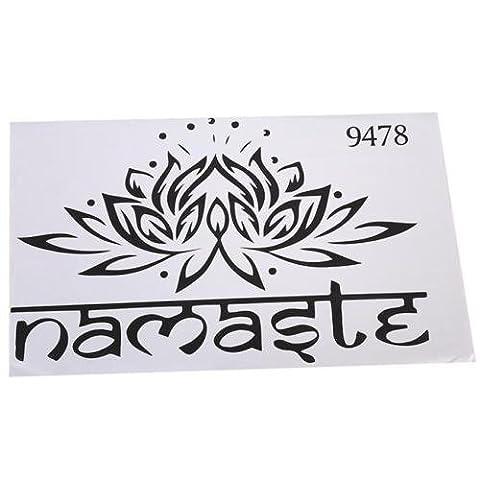 Yingwei Lotus Flower Decal Yoga Namaste Mandala Wall Stickers Bedroom