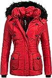 Marikoo Damen Winter Jacke Steppjacke Vanilla (vegan Hergestellt) Rot Gr. XL