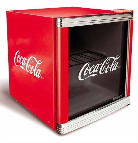 Husky HUS-CC 165 Flaschenkühlschrank Coca-Cola / A / 51 cm Höhe / 84 kWh/Jahr / 50 L Kühlteil (Kleine Cola Kühlschrank)