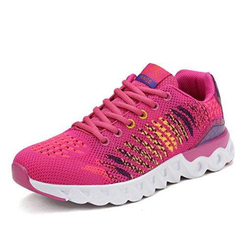 Unisex Erwachsene Modische Sneakers Leichtgewicht Atmungsaktiv Anti-Rutsch Tragene Laufschuhe Schnürhalbschuhe Gelb