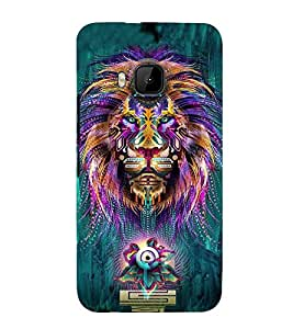 PrintVisa Colorful Lion Face 3D Hard Polycarbonate Designer Back Case Cover for HTC One M9 :: HTC One M9S :: HTC M9 :: HTC One Hima