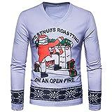 CICIYONER Langärmeliges T-Shirt mit Print für Herren, Männer Herbst Winter Weihnachten Weihnachten Drucken Oben Herren Langärmelig T-Shirt Bluse