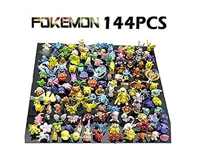 New Cute 144 pcs Pokemon Monster Mini figure 2-3cm in Random by JapanCos por JapanCos