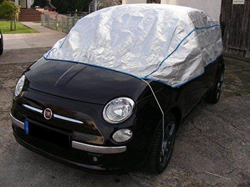 Preisvergleich Produktbild Halbe Autoabdeckung atmungsaktiv extrem leicht FIAT UNO in silber Exclusiv aus Tyvek incl. Lagerbeutel