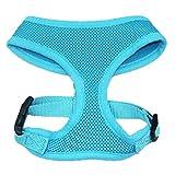 TOOGOO(R) S Gaze Hunde Softgeschirr Brustgeschirr Hundegeschirr Welpengeschirr Blau + Halsband