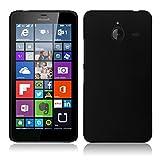 AA19 Rubberised Matte Hard Case for Microsoft Lumia 640 XL, Rubberised Hard Back Case Cover UltraSmooth feel for Microsoft Lumia 640 XL - Pitch Black