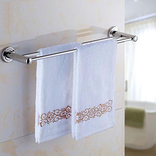 QFF Pur 304 bar serviette en acier inoxydable/serviette WC suspendu à double serviette de bar matériel rack salle de bain (taille : 50 cm)