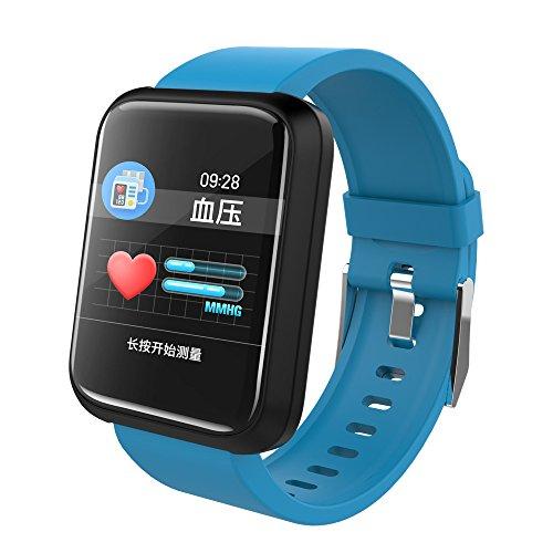Berrose Stylische Smart Uhr Sport Watch Herzfrequenz-Blutdruckmessgerät Wasserdichtes Armband, automatische Messung des Herzfrequenz-Blutdrucks, Schlafüberwachung, Bewegungs- / Trinkerinnerung