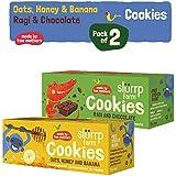 Slurrp Farm Cookies, Ragi, Chocolate, Oats, Honey and Banana, 150g (Pack of 2)