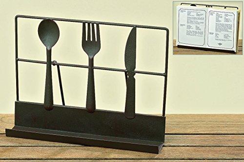 Kochbuchständer Kochbuchhalter Buchständer Buchstütze Notenständer tisch Metall (30 x 22,5 x 5 cm)