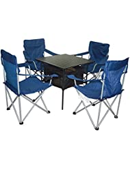 XD-Plein air portable table et chaises set Quintet combo aluminium loisirs table pliante