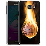 Samsung Galaxy A3 (2016) Housse Étui Protection Coque Basketball Feu Feu