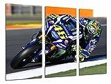 Quadro su Legno, Moto Valentino Rossi, Motociclista, Yamaha, Road, 97 x 62cm, Stampa in qualita Fotografica. Ref. 26674