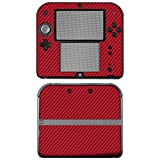 "Nintendo 2DS Skin ""FX-Carbon-Red"" Designfolie Sticker für 2DS"