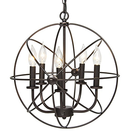 Hines love chandelier the best amazon price in savemoney hines best choice products industrial vintage lighting ceiling chandelier 5 lights metal hanging fixture aloadofball Choice Image