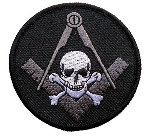 Titan One Europe Freemasonry Biker Masonic Widows Sons Skull Square Compass Embroidered Patch Iron On Parche Motero Bordado Termoadhesivo