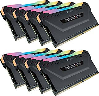 Corsair Vengeance RGB PRO 64 GB (8 x 8 GB) DDR4 3600 MHz C18 XMP 2.0 Enthusiast RGB LED Illuminated Memory Kit - Black (B07D7B5PJV) | Amazon price tracker / tracking, Amazon price history charts, Amazon price watches, Amazon price drop alerts