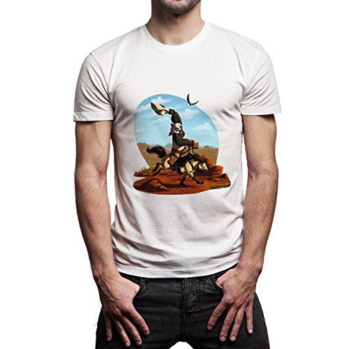 Kung-Fu-Panda-Horse--Background.jpg Herren T-Shirt Weiß