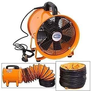 Power Star Ventilateur Portable Axial Ventilateur Atelier Extraction (300mm Avec Tuyau Conduit)