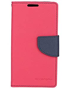Friends Accessories Flip Cover for Samsung Galaxy S4 i9500 (Red & Navy Blue)