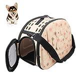 Pet Carrier Bolsa de Transporte Plegable Perros y Gatos Caja de Transporte Mascotas portaequipajes Pet Carrier Bag para pequeños Perros y Gatos