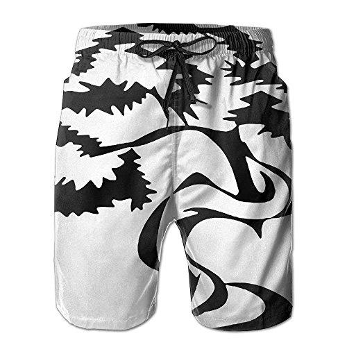 Bonsai Tree - Pantalón Corto de Verano para Hombre Bañadores con Bolsillos, Talla L