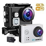 WiMiUS 4K Action Kamera WiFi Action Cam HD Actioncam 1080P 16MP Sport Kamera 40M Wasserdichte...