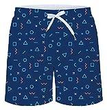 NEWISTAR Costumi da Bagno Uomo da Beachwear 3D Tronchi per la Spiaggia Stampa Pantaloncini Tronchi da...