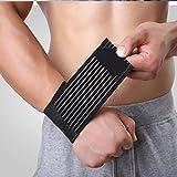 AGIA TEX 2er Set Stützbandage Knöchel Handgelenk-Bandage elastisch schwarz (2 Stück)