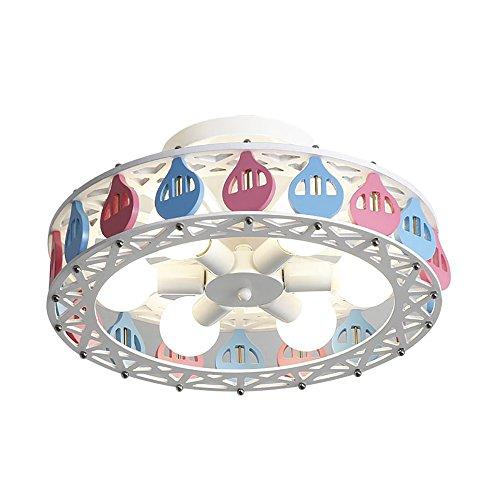 TOYM UK Eisen LED Riesenrad kreative Persönlichkeit Deckenleuchte Kinderzimmer junge Mädchen Schlafzimmer Deckenleuchte ( Farbe : Pink+blue ) (Bauen Riesenrad)