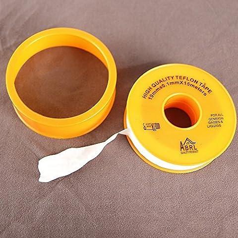Teflonband 15m Lang 19mm Breit, Gewindeband Gewindedichtband Dichtband (Teflon03)
