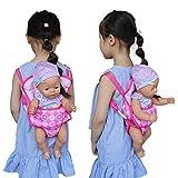 Dinglong Enfants Sac à Dos Cartable Doll Carrier Sac de Fleurs Design pour 18inch American Girl